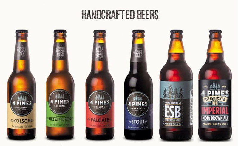 Craft Beers from 4 Pines Brewery talks social media